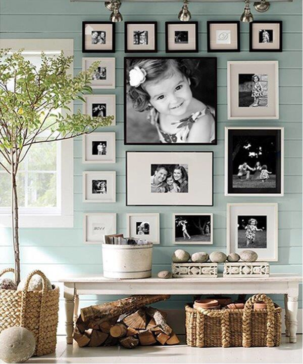 Photo Wall Ideas With Different Frames : Wall collage using ikea frames blessed days in dubai